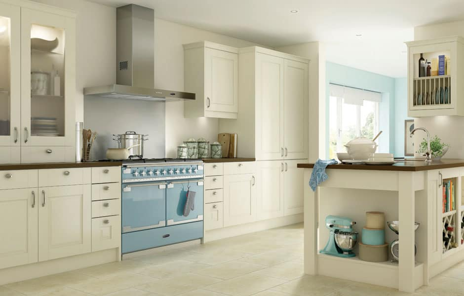 59 luxury kitchen designs that will captivate you for Blue and cream kitchen ideas
