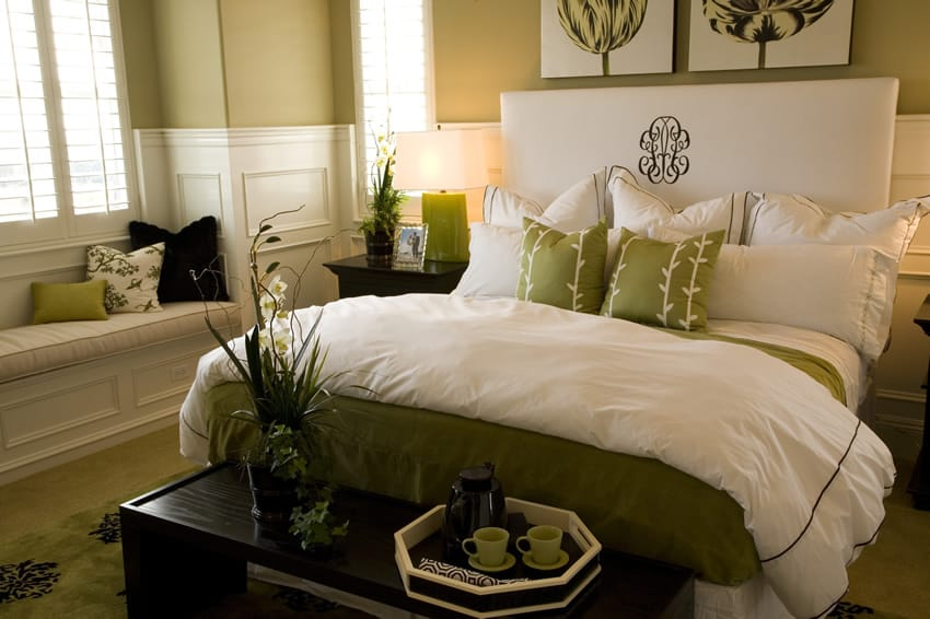 67 stylish modern small bedroom ideas for Olive green bedroom designs