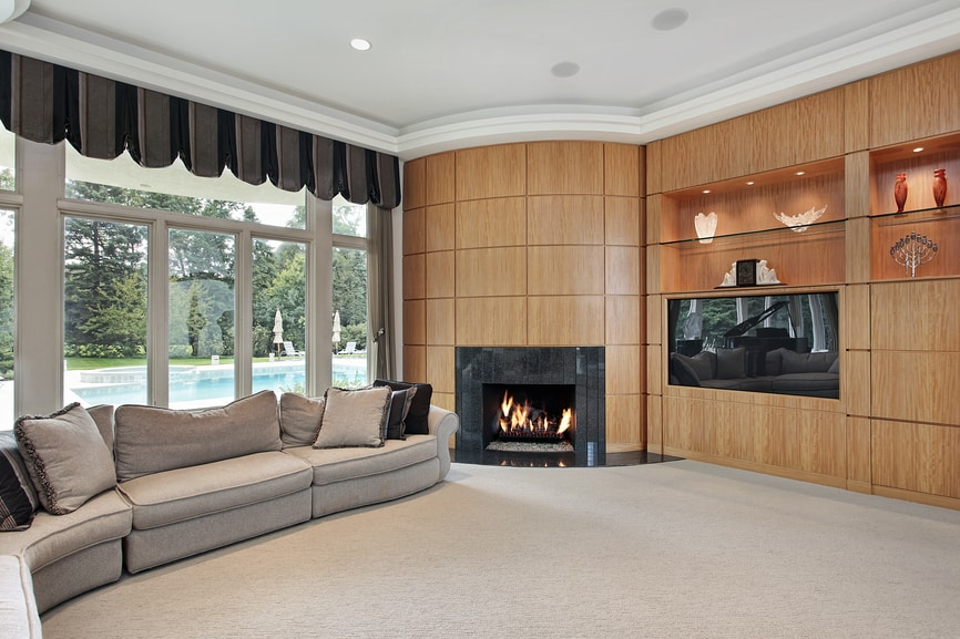 38 interior design ideas for small living rooms for Living room ideas with wood paneling