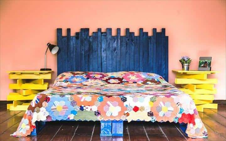 wooden bed frames full