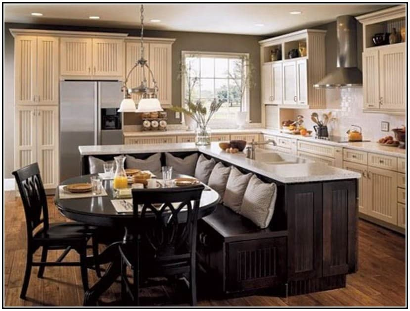 27 captivating ideas for kitchen island with seating Breakfast Table Kitchen