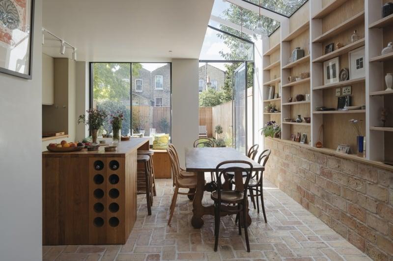 reclaimed brick flooring