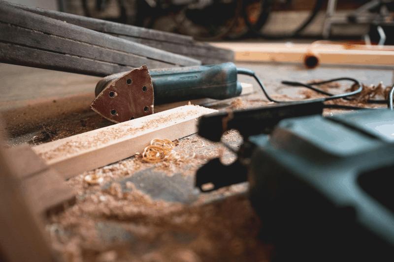 Using a sander