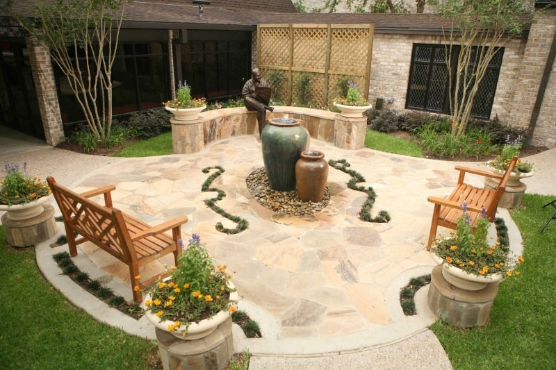 Set an outdoor sitting section