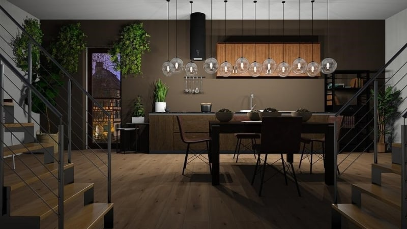 layered design for dining room