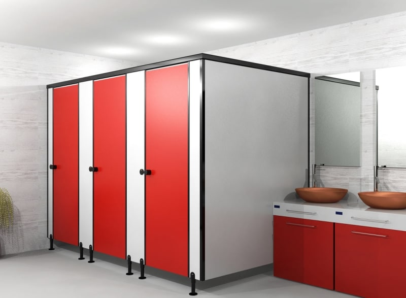 office bathroom partition