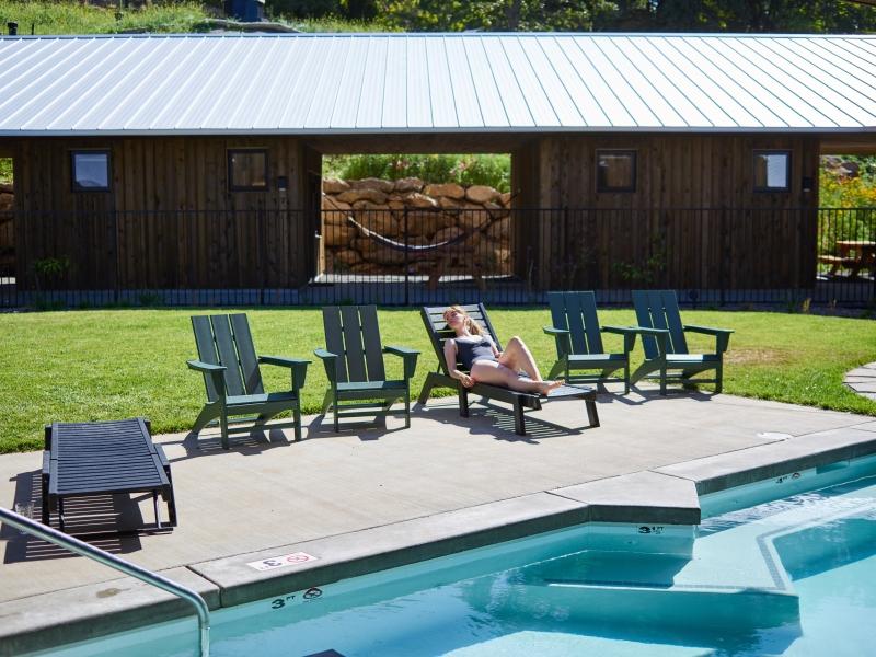 Reclining Sun Lounger for backyard pool