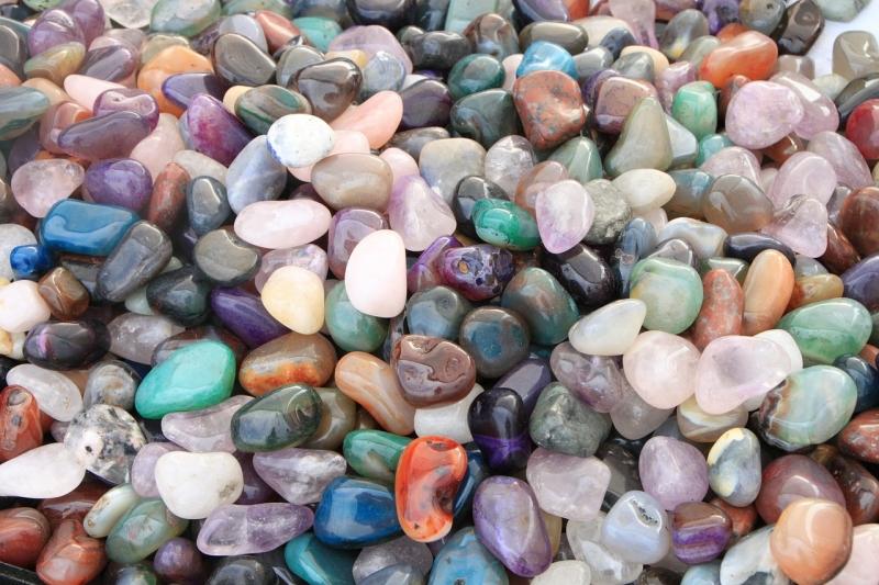 pebbles beside backyard pond