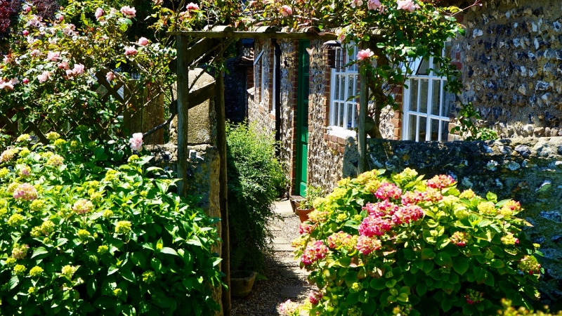 DIY garden landscaping project