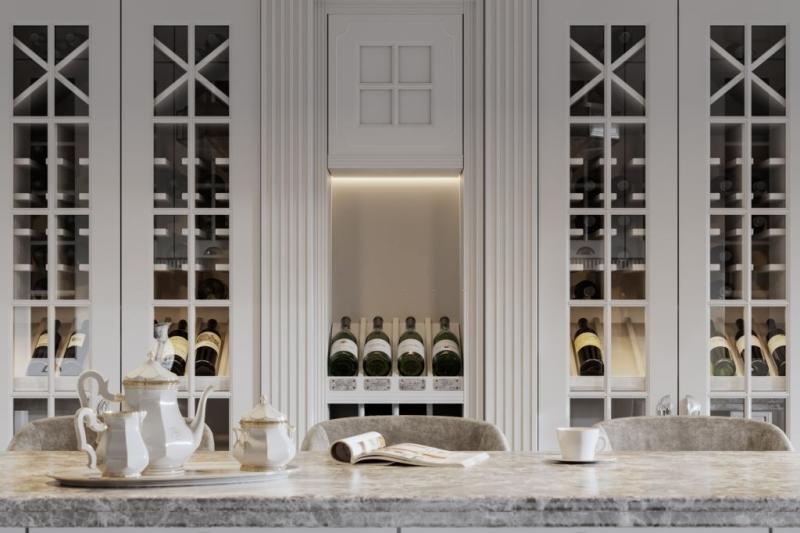 glass wine wall